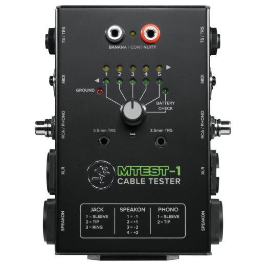 Pruebe los tipos de conectores más comúnmente utilizados en sonido en vivo y aplicaciones de estudio