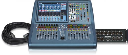 """Mezclador digital de 40 canales con 24 entradas de micrófono / línea, pantalla color de 15 """", USB y Ethernet Capacidad de expansión de E / S"""