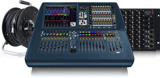 """Mezclador digital compacto de 56 canales con 64 canales simultáneos de procesamiento de entrada, pantalla de visualización en color de 15 """", USB y capacidad de ampliación de E / S de Ethernet"""