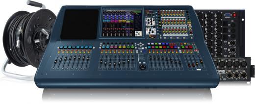 Mezclador digital de 64 canales con 64 canales de entrada, 27 buses de mezcla con coherencia de fase, 8 preamplificadores de micrófono MIDAS integrados