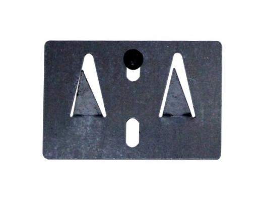 Set de 10 unidades de Soportes metalicos, placa de fijación de peso ligero desarrollada para colgar 1 panel acústico en la pared