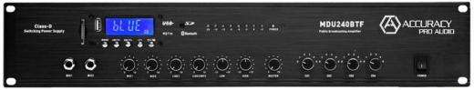 Panel de control digital, sintonizador FM, reproductor de MP3, USB y SD, reproducción de MP3 a través de Bluetooth y control remoto.