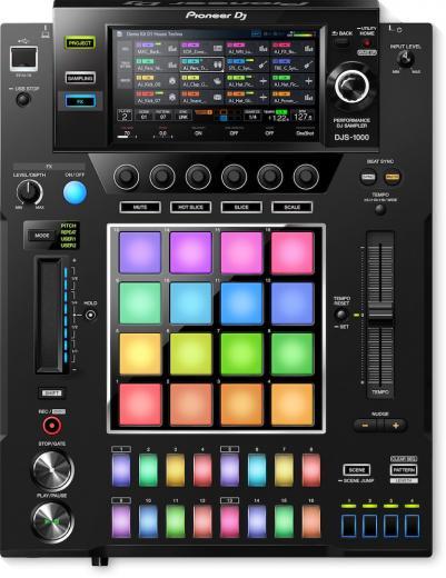 """Superficie de control DJ independiente con secuenciador de 16 pasos, 16 pads de rendimiento, Touch Strip, efectos incorporados y pantalla táctil a color de 7 """""""