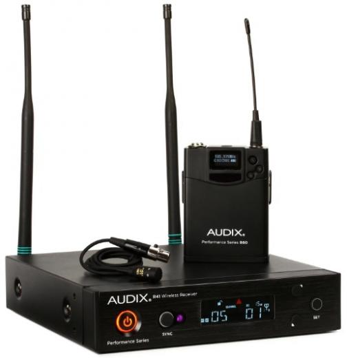 Receptor montable en rack R41, transmisor de cuerpo B60 ofrece un rendimiento inalámbrico versátil mas El ADX10 micrófono de calidad para voces e instrumentos banda B (554  - 586 MHz).