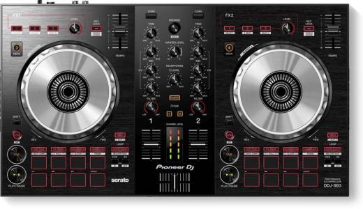 Controlador de DJ digital de 2/4 cubiertas para Serato DJ con interfaz de audio integrada, filtrado integrado y software Serato DJ Lite