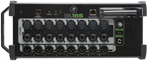 Mezclador de rack digital de 16 canales con interfaz de audio USB 2.0 de 16 entradas / 16 salidas, 16 preamps de micrófono, 16 canales de entrada, 13 buses de salida.