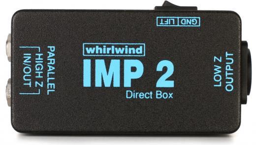 """Caja directa con E / S paralelas de 1/4 """", salida XLR e interruptor de elevación a tierra"""