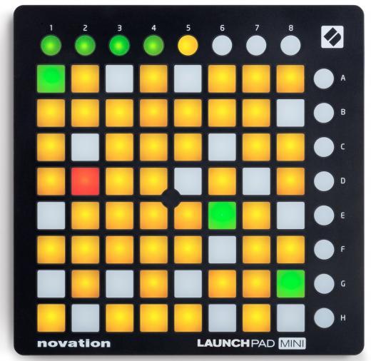 Controlador de pads compacta para Ableton Live con 64 pad de rendimiento con retroiluminación tricolor, 16 botones programables, software Ableton Live Lite e instrumentos virtuales de teclas