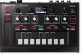 Módulo de sintetizador analógico monofónico con memoria digital, teclado de panel táctil de 13 notas, controlador de cinta, secuenciador y 7 efectos integrados