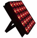 Fuente de luz led de 25x100W (RGBW 4 EN 1), construccion en aluminio, Ambiente de trabajo hasta 40 ° C