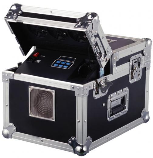 Haze doble de 600W / DMX, salida de Niebla de 3000Cu ft/min, Control por pantalla LCD, No necesita tiempo de calentamiento