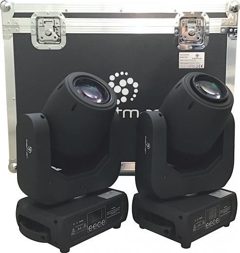 Fuente de luz: Led Blanco 150W de alto rendimiento, 7 colores + blanco, rotación con dirección y velocidad variables, activación por sonido, automático, master / slave , DMX512