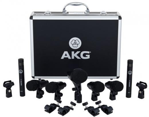 Incluye el micrófono de bajo dinámico P2, dos micrófonos de condensador de diafragma pequeño P17 y cuatro micrófonos de instrumento dinámico P4.
