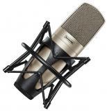 Micrófono de condensador cardioide de diafragma grande con almohadilla de 15dB, roll-off de bajos de 3 posiciones, montaje y estuche