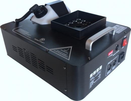 1500 W de potencia, control remoto inalámbrico, LED upword, 24 led RGB color, 9 canales DMX