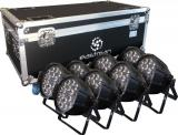8 Par Led RGBW, Fuente de luz: lámparas LED 18 × 8W (4 en 1), Ángulo de haz: 25 ° / 30 °