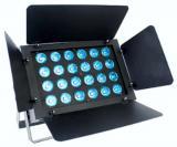 Paleta Led con Barndoor, 24x10W, RGBW 4 en 1, consumo 240W, Angulo Beam 25 grados