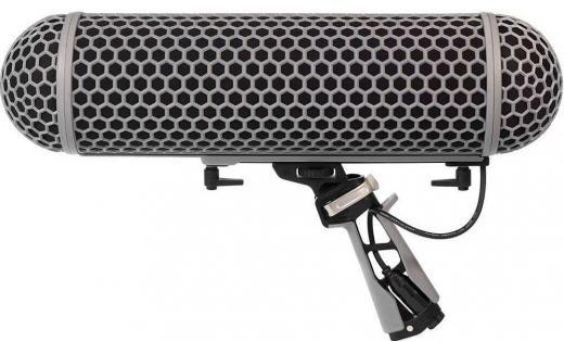 Parabrisas y Shockmount para micrófonos de escopeta de hasta 32 cms de largo, con parabrisas Dead Wombat y cable XLR
