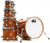 "Set de 5 piezas de la serie DW Collector con toms rack de 10"" y 12"", Tom de piso de 14 y 16"", bombo de 22"" - Lacquer Custom, color madera natural - Hecho en USA"