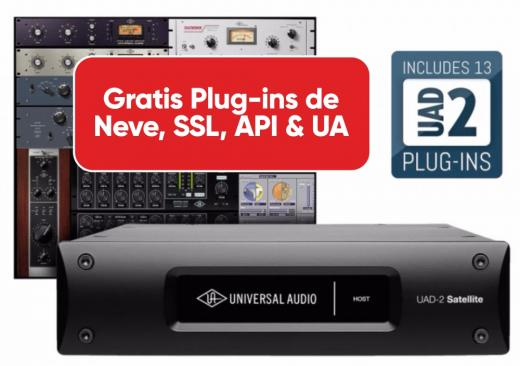 Acelerador DSP QUAD de 4 núcleos Thunderbolt 2 y bundle de plugins UAD con paquete Analog Classics - Mac/PC AAX 64, VST, AU, RTAS.
