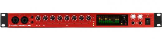 """Interfaz de audio USB 2.0 de 18 entradas / 20 salidas con preamplificadores de 8 micrófonos y efecto """"aire"""" de Focusrite, conversión de 24 bits / 192 kHz, E / S ADAT, 2 salidas para auriculares y paquete de software incluido - Mac / PC"""