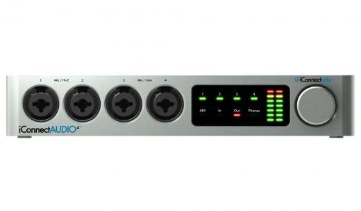 Interfaz de audio USB 2.0, 4-in / 6-out, con 4 Mic / Instrument Preamps, 24-bit / 96kHz, MIDI In / Out / USB, y puertos de dispositivo de host múltiple - Mac / PC