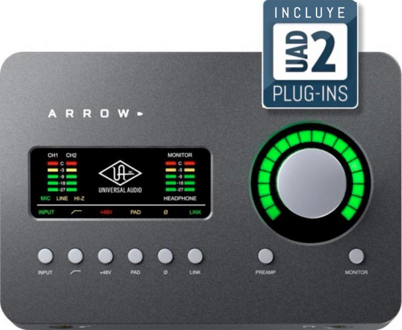 Universal Audio Arrow, Interfaz 2x4 Thunderbolt 3 con DSP