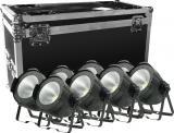 1 Led de 100W WW COB, WW + CW, angulo de haz: 35°, activación por sonido, automático, master / slave, DMX-512