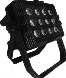 Wall Washer para exterior, 12 leds de 10 Watts cada uno, RGBW 4 en 1, IP65, 140W de consumo, Display digital led