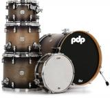 Shell Pack en Maple, 5-piezas, Terminacion Laquer, STM (Suspensión Tom Mounts) - Satin Charcoal Burst, serie Concept