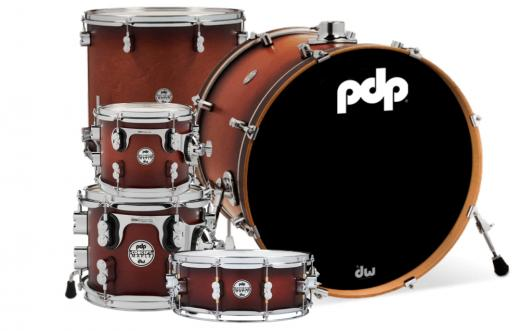 Shell Pack en Maple, 5-piezas, Terminacion Laquer, STM (Suspensión Tom Mounts) - Satin Tobacco Burst, serie Concept