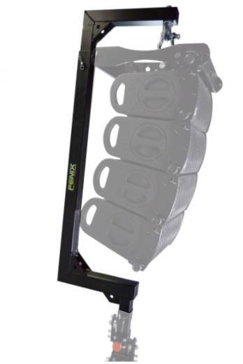 Compatible con torres elevadoras telescópicas MEGARA / ELV Series, para sistemas de audio,  Máxima capacidad de carga: 120kg.