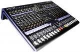 Diseño ultra-compacto que soporta hasta 16 entradas de Mic/Línea con conectores XLR/TRS balanceados, 1 canal estéreo y 2 subgrupos, procesador de efectos DSP de 24-bit con 16 programas