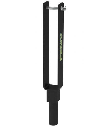 Compatible con torres elevadoras telescópicas NEMESIS Series, para truss paralelo con un punto de apoyo.