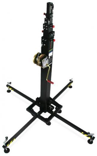 Torre elevadora con patas extraibles, fácil de transportar, sistema especial de ajuste, Gatillos de seguridad antioxidantes de larga duración, carga maxima 300 kgs