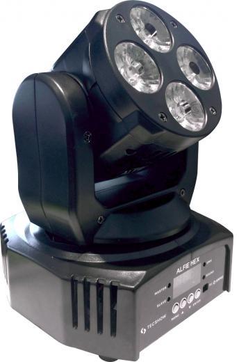 Angulo de haz de 7.5º, 4 LEDs Osram® RGBW de 12W, 3 macros de color, función de estrobo y control de dimmer de 0-100%, Flujo lumínico: 1800 lux @ 5m (16 ft.)
