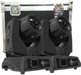Lámpara YODN® 7R de 230W, ángulo de haz de 3,8º, 14 filtros dicróicos, 17 gobos estáticos, prisma de 8 facetas y foco motorizado