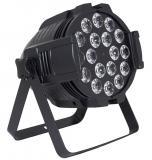 Par LED DMX para interior, 18 LEDs 4-en-1 de 8W, mezcla RGBW sin sombras multicolor, ángulo de haz de 40º