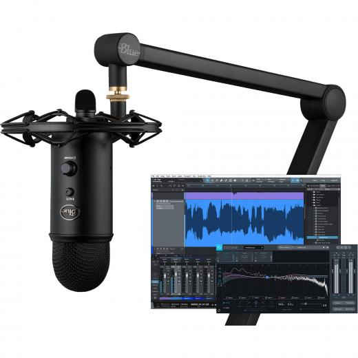 Bundle de grabación con Microfono USB YETI, Radius III Y COMPASS, Shockmount, Desktop Boom Stand, PreSonus Studio One Artist DAW Software y iZotope Ozone Elements Mastering Suite