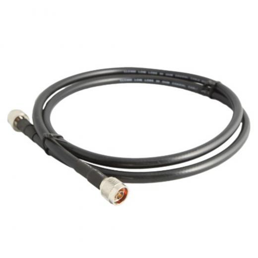 Cable de extensión de antena coaxial, uso en exteriores (0.22 dBi / metro) con dos conectores macho tipo N, ip65
