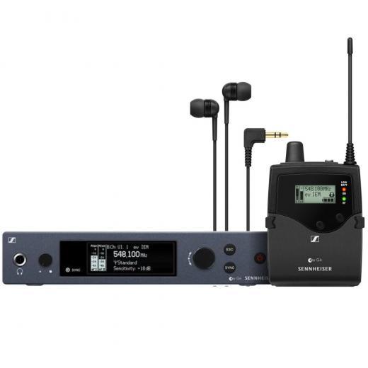 Solución inalámbrica de monitoreo in-ear con transmisor SR IEM G4 para montaje en bastidor, receptor de cuerpo EK IEM G4 y auriculares IE4 - Banda B (626-668 MHz)