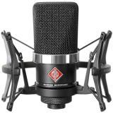 Micrófono de condensador cardioide de diafragma grande con diseño sin transformador y manejo de 144 dB SPL, color Negro