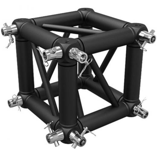 Corner Truss, Tipo Box 2900x290 mm, para truss cuadrados 290x290 mm, negro matte, conectores incluidos, construccion aluminio 6061-T6