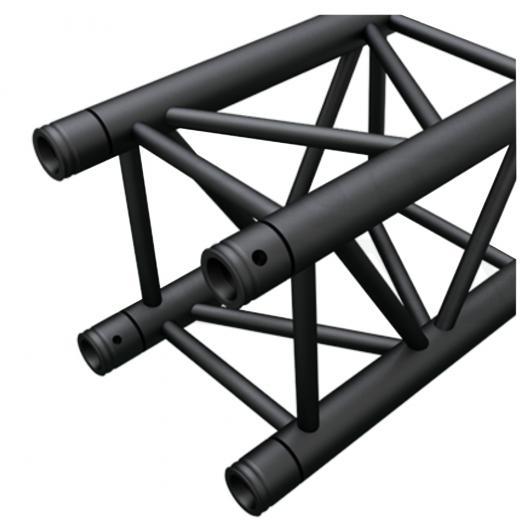 Truss cuadrado 400x400 mm, 3 mm de grosor heavy duty, negro matte, 1 Mts de longitud, construccion aluminio 6061-T6