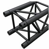 Truss cuadrado 100x100 mm, 2 mm de grosor heavy duty, negro matte, 0.5 Mts de longitud, construccion aluminio 6061-T6