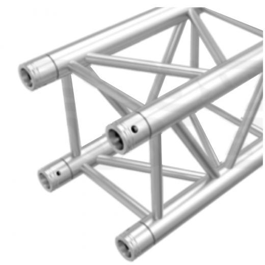 Truss cuadrado 100x100 mm, 2 mm de grosor heavy duty, cromado, 0.5 Mts de longitud, construccion aluminio 6061-T6