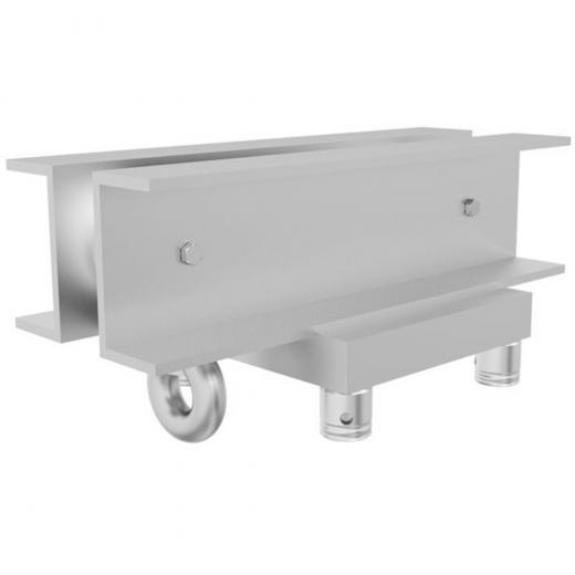 Cabezal Truss, 400x400 mm, pivotes de anclaje, perfil reforzado, 3 mm de grosor heavy duty,construccion aluminio 6061-T6