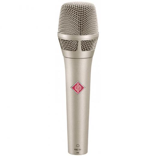 Micrófono de condensador vocal de mano, con patrón polar direccional cardioide fijo - Niquel satinado