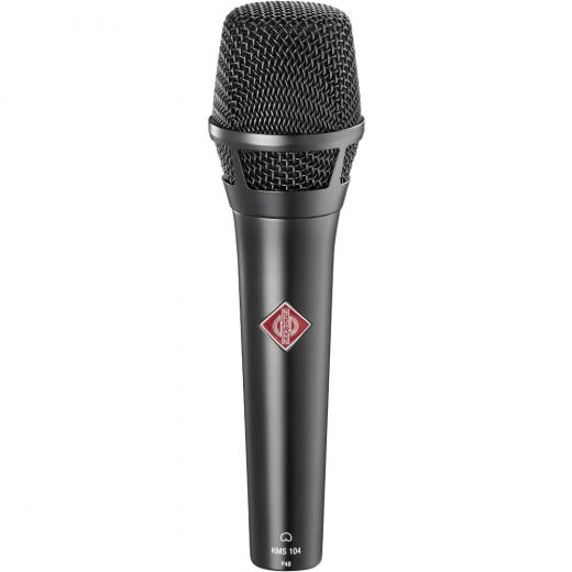 Micrófono de condensador vocal de mano, con patrón polar direccional cardioide fijo - Negro mate