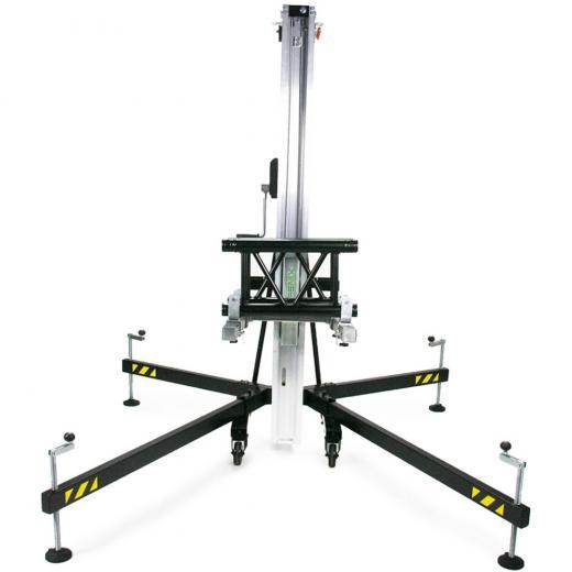 Torre elevadora serie AT, elevar carga desde el suelo, platos basculantes, Fabricado en aluminio, Carga máxima: 250 kgs